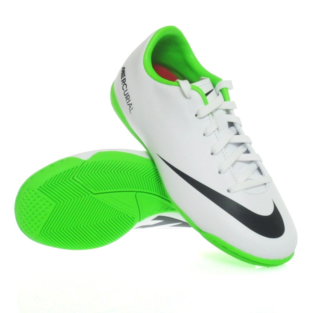 Nike Mercurial Vapor IX IC Indoor Shoes|Silver Black Green Nike