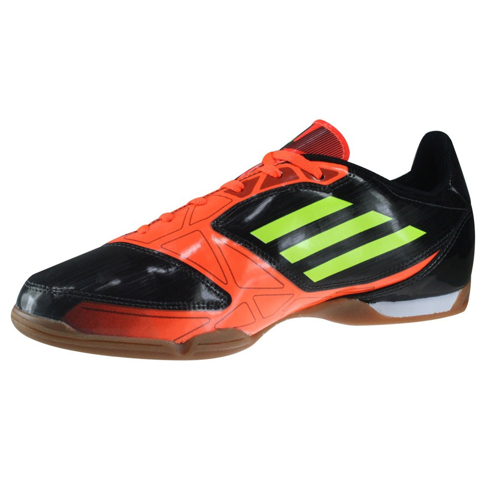 Adidas F5 - Mens Indoor Soccer Shoes - Black/Orange/Yellow