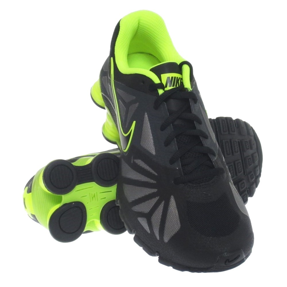 black nike shox turbo